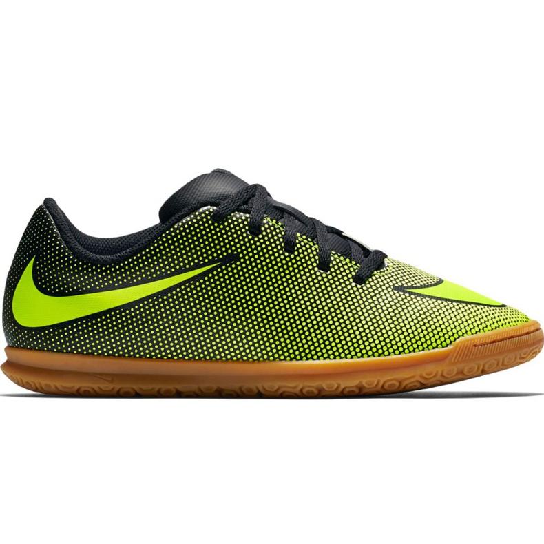 Buty halowe Nike Bravatax Ii Ic Jr 844438-070 zielone wielokolorowe