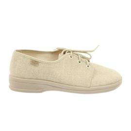 Befado buty męskie półbuty pu 630M007 beżowy