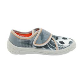 Befado buty dziecięce kapcie trampki 557X038 czarne pomarańczowe szare