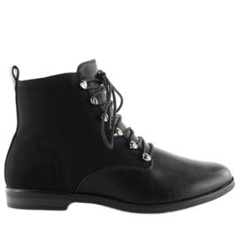 Botki damskie czarne 8685 Black