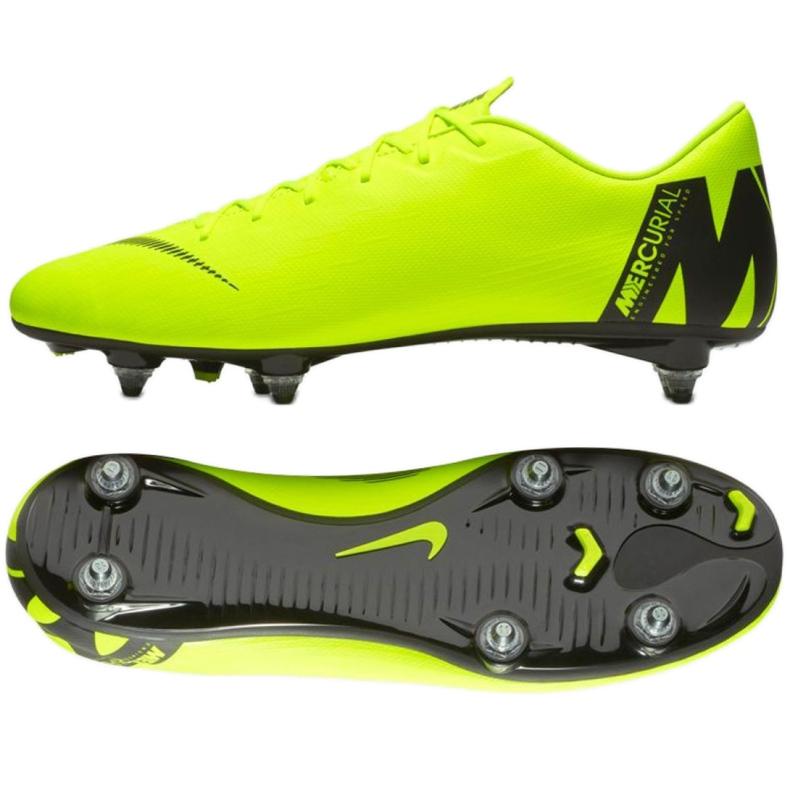 Buty piłkarskie Nike Mercurial Vapor 12 Academy Sg Pro M AH7376-701 zielone wielokolorowe