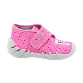 Befado buty dziecięce kapcie 112P185 różowe