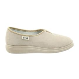 Befado obuwie damskie pu 057D027 brązowe