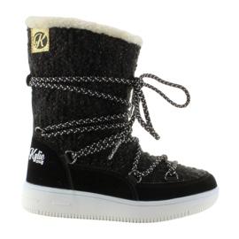 Czarne Dziecięce śniegowce eskimoski k1646102 Negro