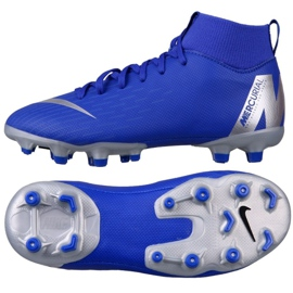 Buty piłkarskie Nike Mercurial Superfly 6 Academy Mg Jr AH7337-400 niebieskie niebieskie