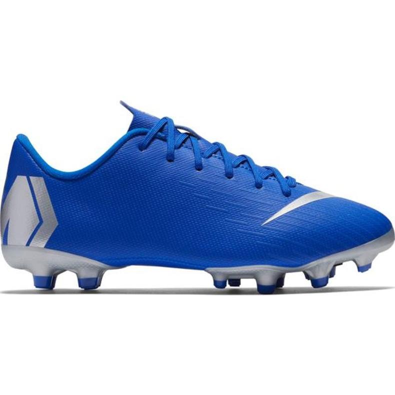 Buty piłkarskie Nike Mercurial Vapor 12 Academy Mg Jr AH7347-400 niebieskie niebieskie