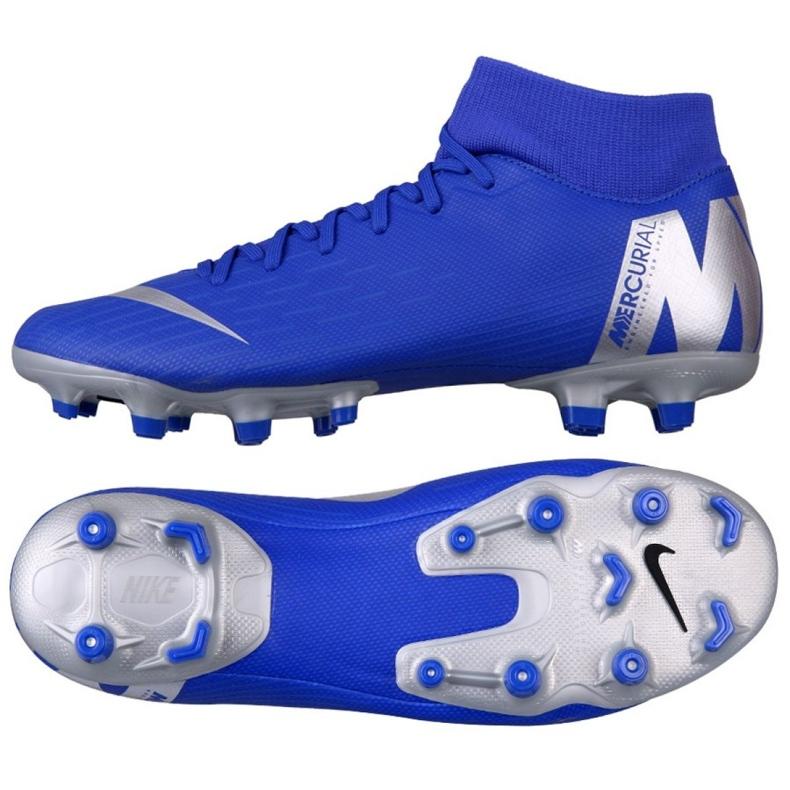 Buty piłkarskie Nike Mercurial Superfly 6 Academy FG/MG M AH7362-400 niebieskie wielokolorowe