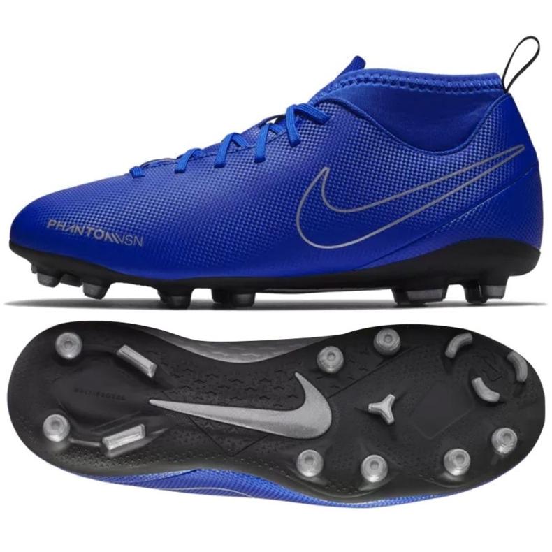 Buty piłkarskie Nike Phantom Vsn Club Df Fg Mg Jr AO3288-400 niebieskie wielokolorowe