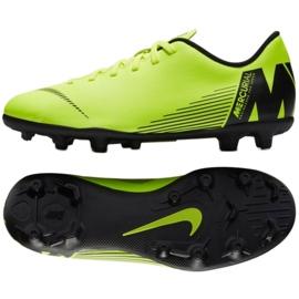 Buty piłkarskie Nike Mercurial Vapor 12 Club Mg Jr AH7350-701 zielone wielokolorowe