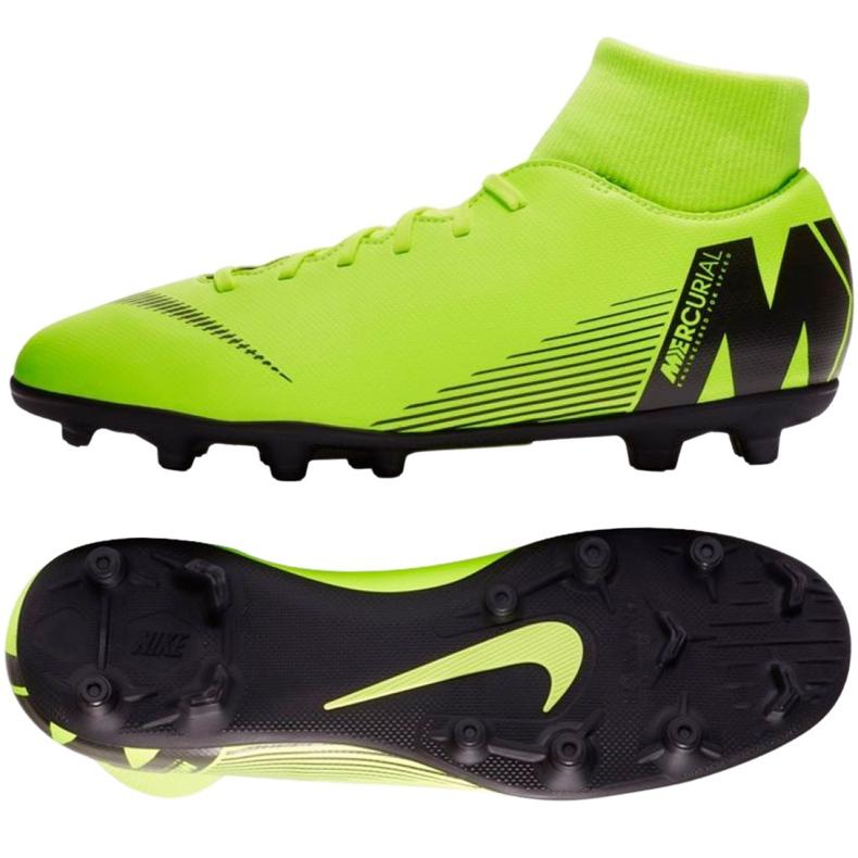 Buty piłkarskie Nike Mercurial Superfly 6 Club Mg M AH7363-701 zielone wielokolorowe