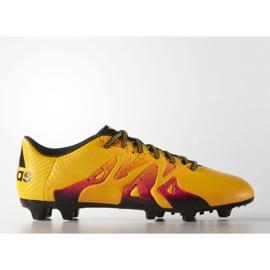Buty piłkarskie adidas X 15.3 FG/AG M S74632 pomarańczowe wielokolorowe
