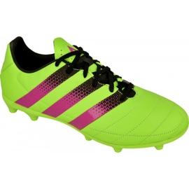 Buty piłkarskie adidas Ace 16.3 FG/AG M Leather AF5162 zielone zielone