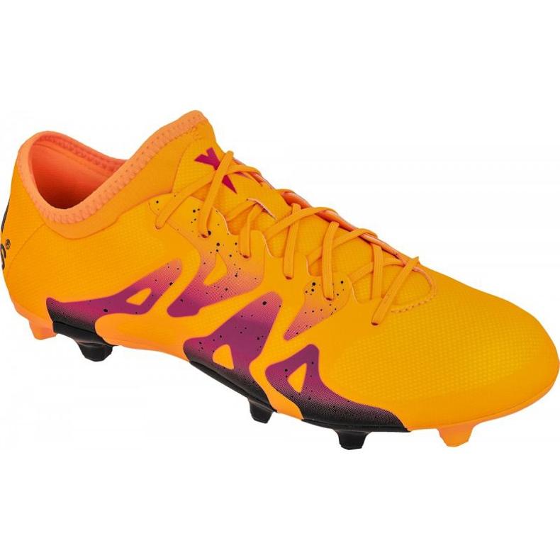 Buty piłkarskie adidas X 15.2 FG/AG M S74672 pomarańczowe pomarańczowe