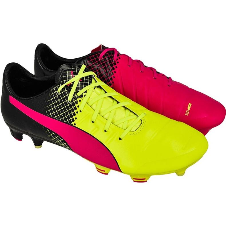 Buty piłkarskie Puma evoPOWER 1.3 Tricks Fg M 10358101 czarne wielokolorowe