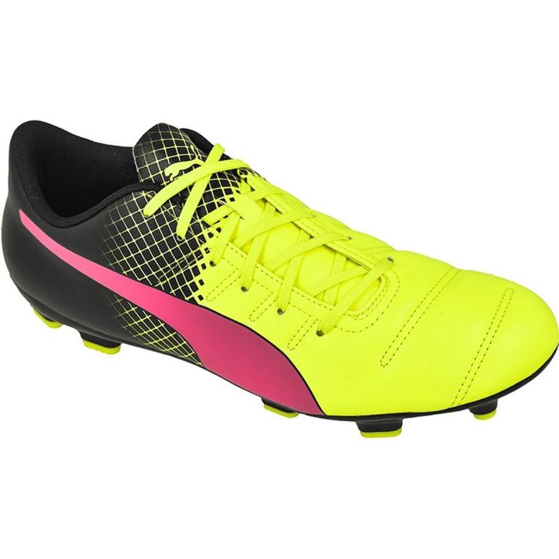 Buty piłkarskie Puma evoPOWER 4.3 Fg Tricks M 10358501 żółte wielokolorowe