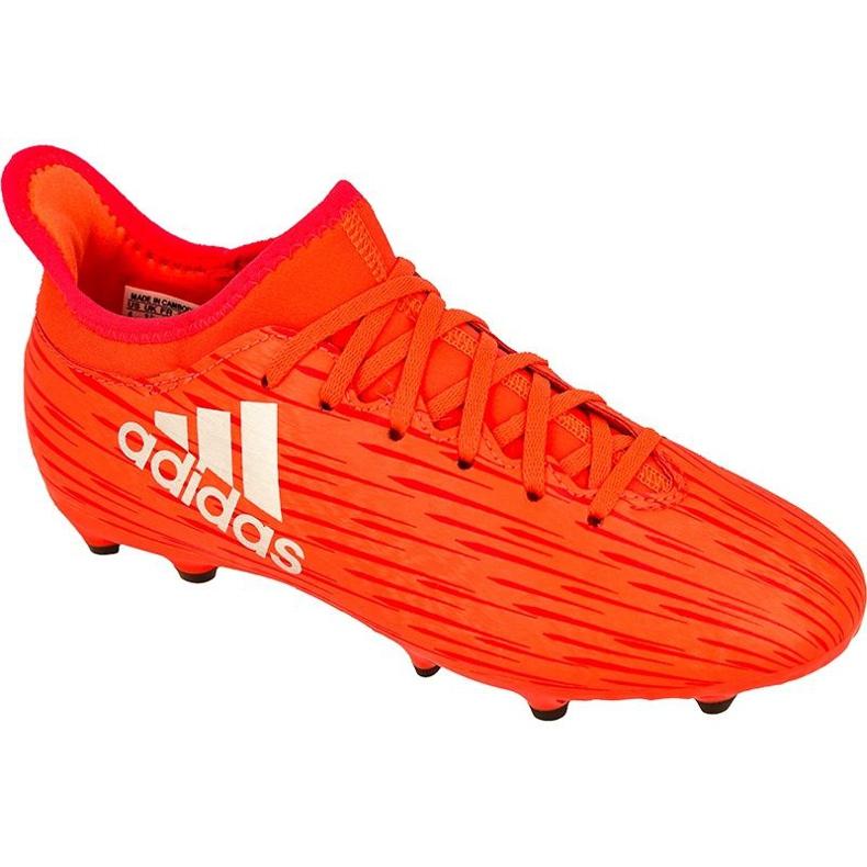 Buty piłkarskie adidas X 16.3 Fg Jr S79489 czerwone czerwone