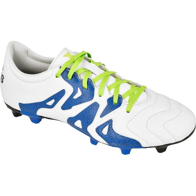 Buty piłkarskie adidas X 15.3 FG/AG M Leather S74641 białe