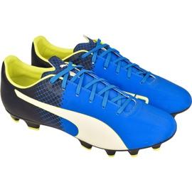 Buty piłkarskie Puma evoSPEED 4.5 Fg M 10359204 niebieskie niebieskie
