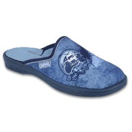 Befado kolorowe obuwie dziecięce 707Y396 niebieskie