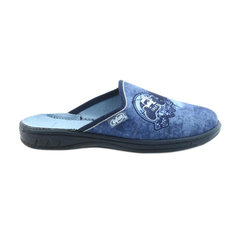 Befado buty dziecięce klapki kapcie 707Y396 granatowe niebieskie