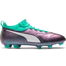 Buty piłkarskie Puma One 3 Il Lth Fg Color Shift-Bi M 104928 01 wielokolorowe wielokolorowe