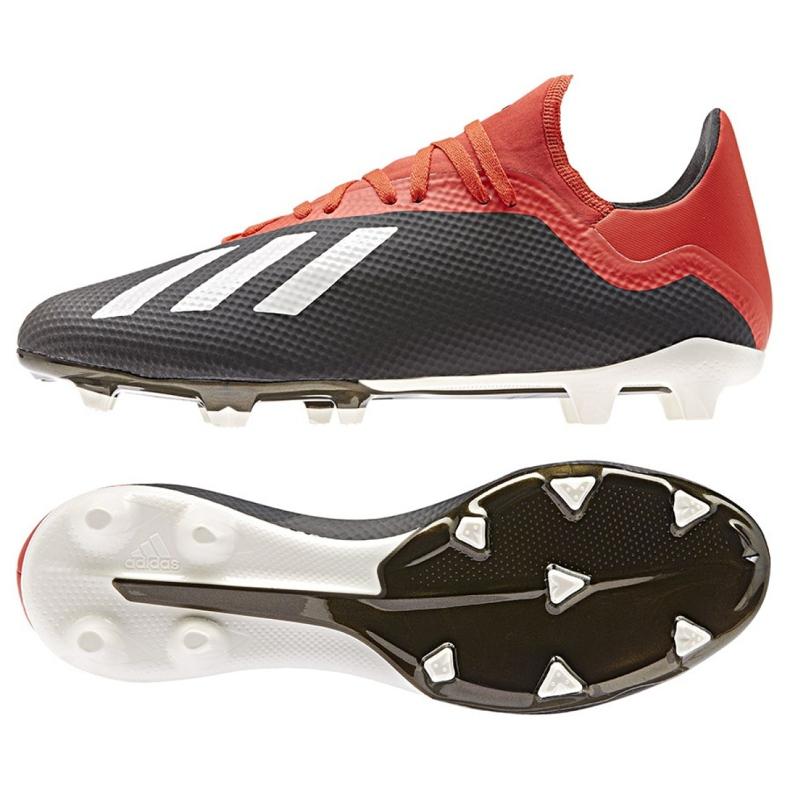 Buty piłkarskie adidas X 18.3 Fg M BB9366 czarne czarne