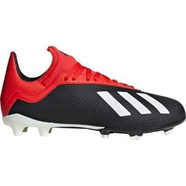 Buty piłkarskie adidas X 18.3 Fg Jr BB9370 czarne czarny
