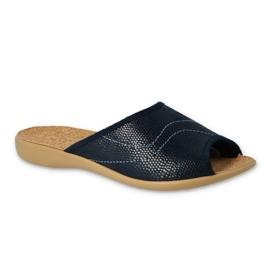Granatowe Befado obuwie damskie pu 254D093