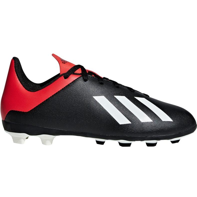 Buty piłkarskie adidas X 18.4 FxG Jr BB9378 czarny czarne