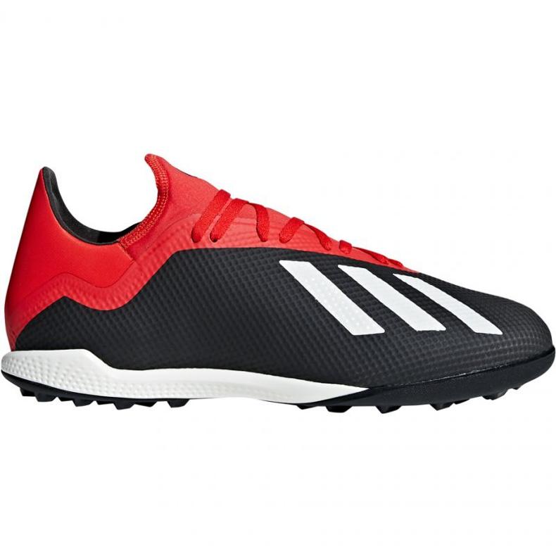 Buty piłkarskie adidas X 18.3 Tf M BB9398 czarne czarne