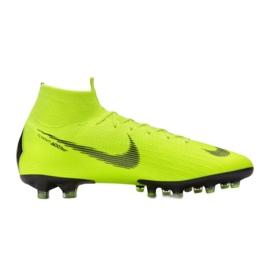 Buty piłkarskie Nike Mercurial Superfly 6 Elite Ag Pro M AH7377-701 różowy, zielony zielone