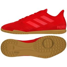 Buty halowe adidas Predator 19.4 In Sala M D97976 czerwone wielokolorowe