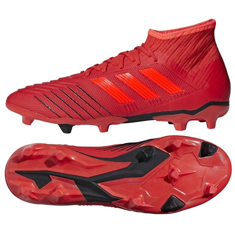 Buty piłkarskie adidas Predator 19.2 Fg M D97940 czerwony czerwone