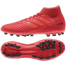 Buty piłkarskie adidas Predator 19.3 Ag M D97944 czerwone czerwone