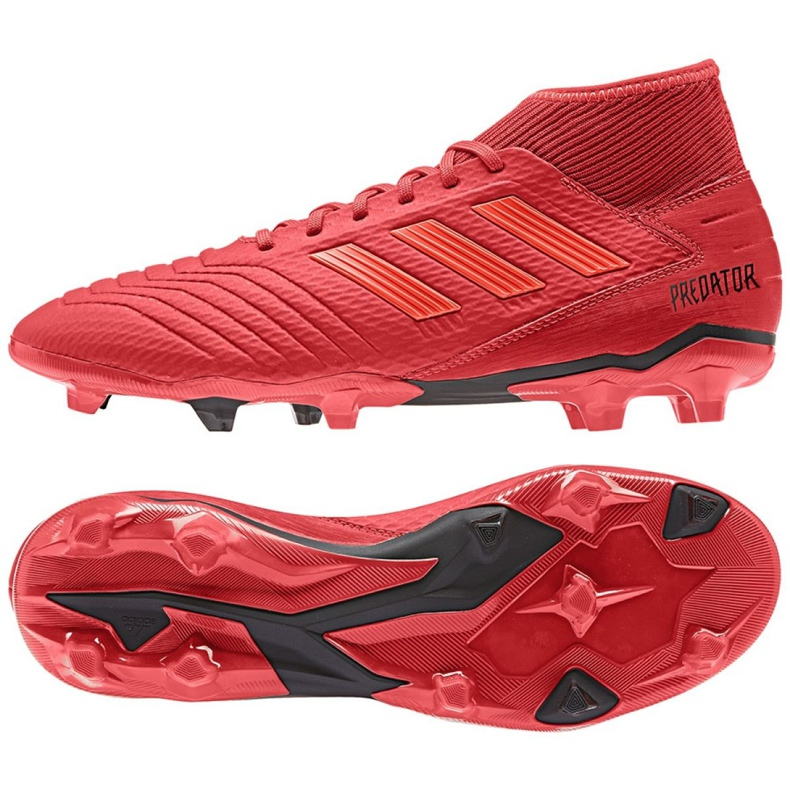 Buty piłkarskie adidas Predator 19.3 Fg M BB9334 czerwone wielokolorowe