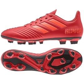 Buty piłkarskie adidas Predator 19.4 FxG M D97970 czerwone wielokolorowe