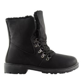 Botki trekingowe śniegowce czarne 1119-PA Black