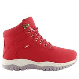 Buty trekingowe damskie czerwone B1718-6 Red