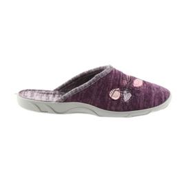 Befado buty damskie kapcie 235d152 fioletowe