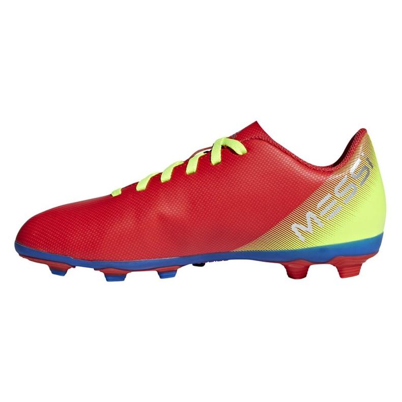 Buty piłkarskie adidas Nemeziz Messi 18.4 FxG Jr CM8630 czerwone wielokolorowe