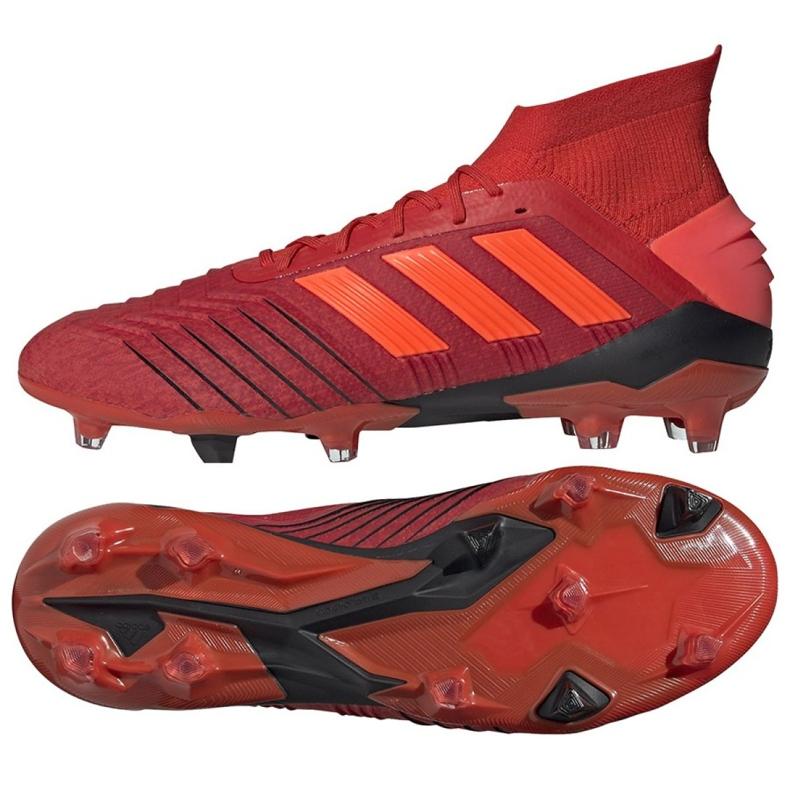 Buty piłkarskie adidas Predator 19.1 Fg M BC0552 czerwone czerwony