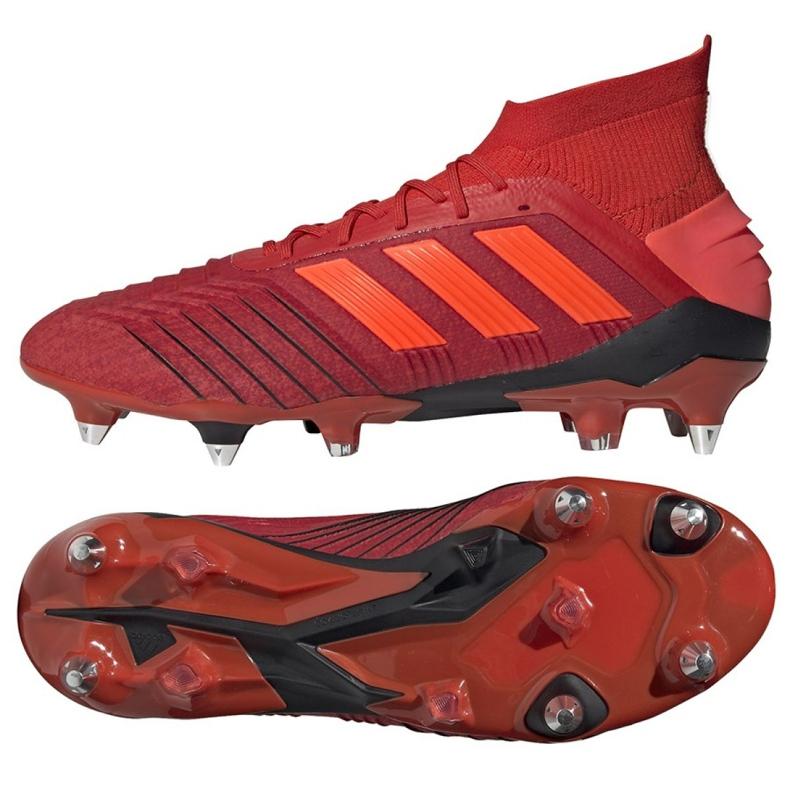 Buty piłkarskie adidas Predator 19.1 Sg M D98054 czerwone czerwone