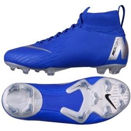 Buty piłkarskie Nike Mercurial Superfly 6 Elite Fg Jr AH7340-400 niebieskie niebieskie