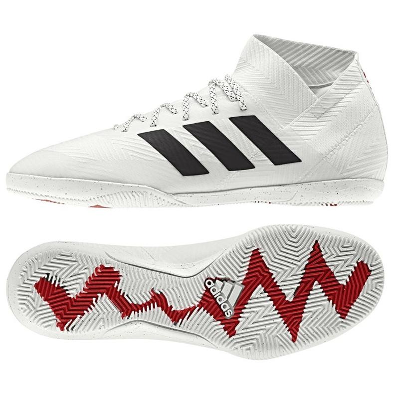 Buty halowe adidas Nemeziz 18.3 In M D97989 białe białe