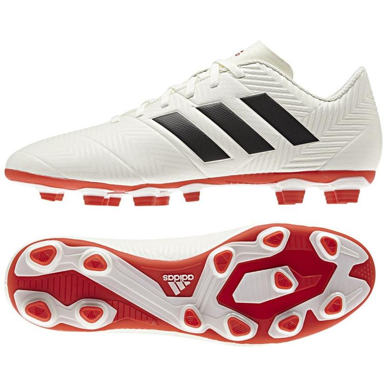 Buty piłkarskie adidas Nemeziz 18.4 FxG M D97992 białe wielokolorowe