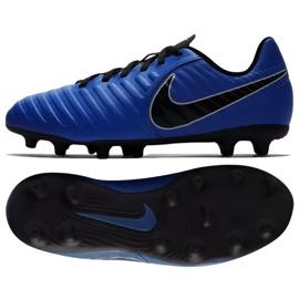 Buty piłkarskie Nike Jnr Tiempo Legend 7 Club Mg Jr AO2300-400 niebieskie wielokolorowe