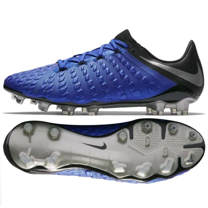 Buty piłkarskie Nike Hypervenom Phantom 3 Elite FG M AJ3805-400 niebieskie