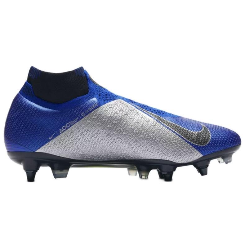 Buty piłkarskie Nike Phantom Vsn Elite Df Sg Pro Ac M AO3264-400 niebieskie niebieskie