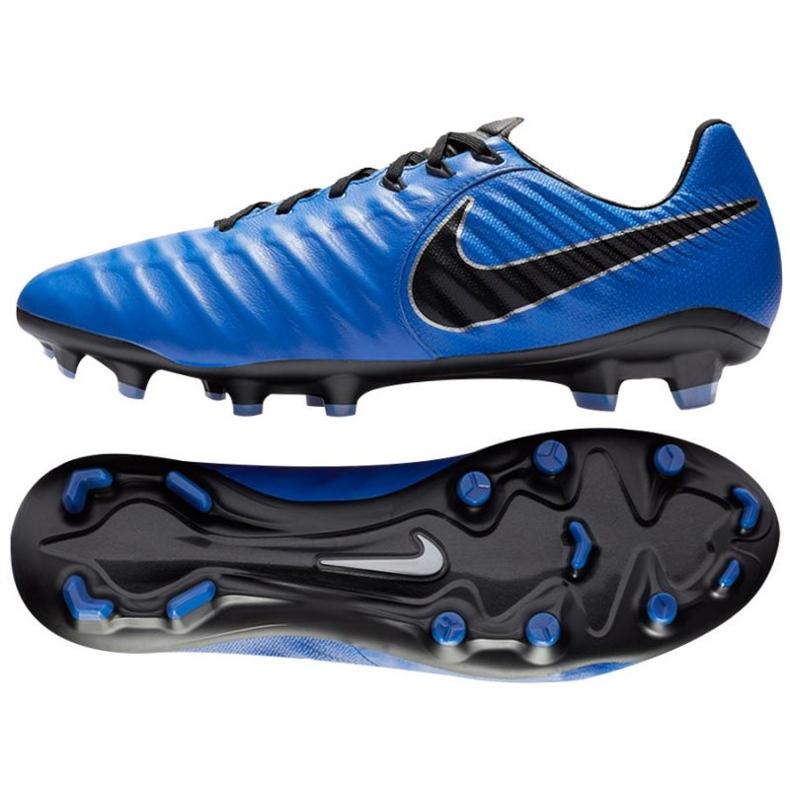 Buty piłkarskie Nike Tiempo Legend 7 Pro Fg M AH7241-400 niebieskie niebieskie