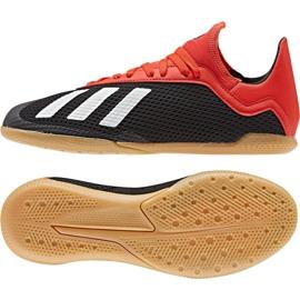 Buty halowe adidas X 18.3 Fg Jr BB9395 wielokolorowe czarny, czarny